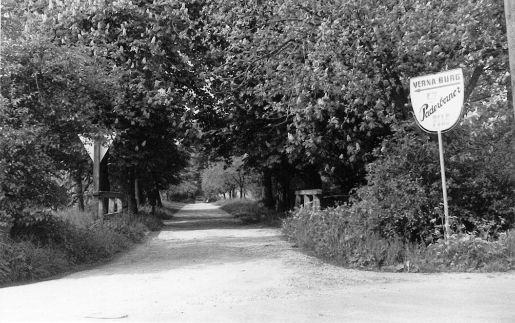 Einfahrt zur Burg (1975).