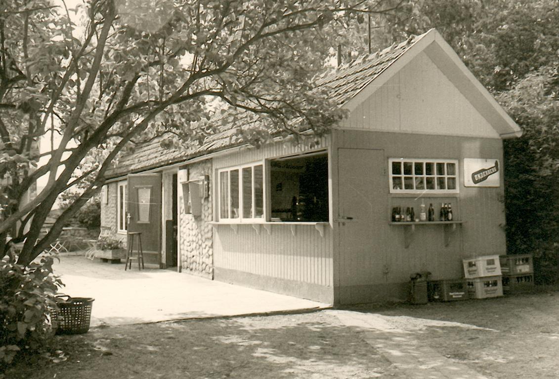 Gastwirtschaft mit geschlossenem Sitzbereich (ca. 1975).