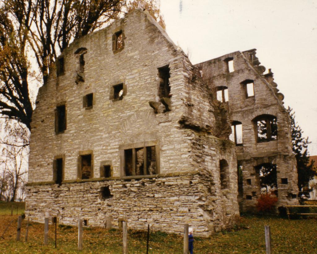 Herrenhaus von Süden (ca. 1980).