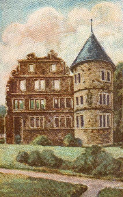 Herrenhaus (Bild 5 aus der Serie Deutsche Burgen, Brinkmann Tabak, Bremen)