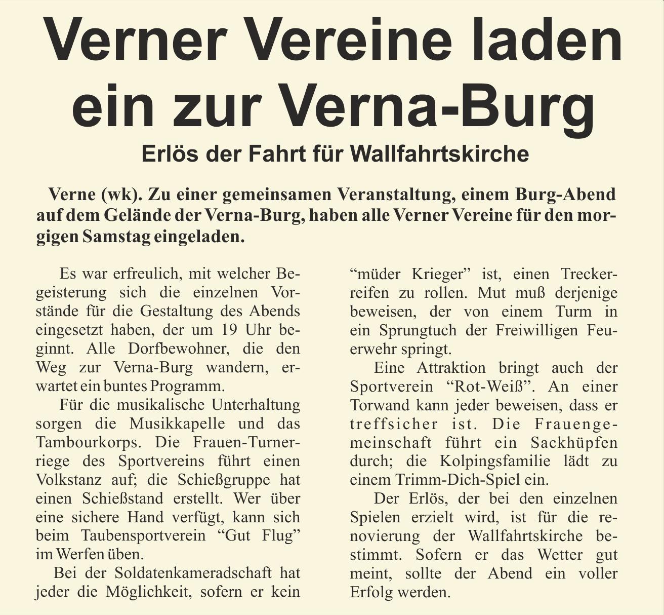 WV, Freitag, 7.Juli 1972