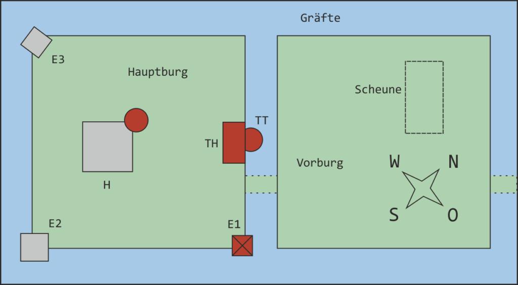 Lageplan (ohne Maßstab).